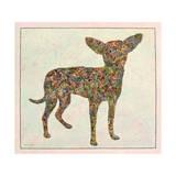 Chihuahua Shape Giclee Print by James W. Johnson