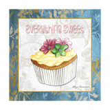 Everything Sweet Vanilla Cupcake Giclee Print by Megan Aroon Duncanson