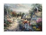 Down Cottage Lane Giclee Print by Nicky Boehme