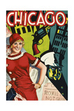 Chicago Red Dress Giclée-Druck