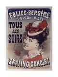 Folies Bergére Skating Concert - Giclee Baskı