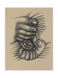 Foot and Hands Giclee Print