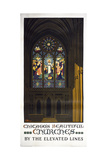 Chicago's Beautiful Churches Giclee Print