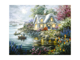Cottage Cove Giclee Print by Nicky Boehme