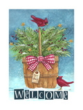 Cardinal Welcome Joy Giclee Print by Melinda Hipsher