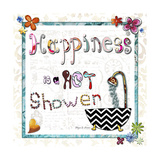 Happiness Is a Hot Shower Giclee Print by Megan Aroon Duncanson