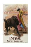 Espagne - Courses De Toureaux Reproduction procédé giclée