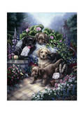 Gardening Puppies Giclee Print by Jenny Newland