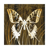 Butterflies and Leaves I Giclee Print by Erin Clark