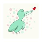 Dreamy Love Bird Giclee Print by Carla Martell