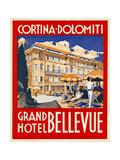 Cortina-Dolomiti, Grand Hotel Bellevue Giclee Print