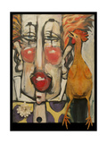 Clown and Rubber Chicken Giclee Print by Tim Nyberg