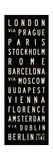 Europe Transit Sign Giclee Print by Michael Jon Watt
