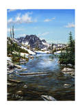 Esc. Tarn Painting Giclee Print by Jeff Tift