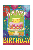 Happy Birthday Giclee Print by Fiona Stokes-Gilbert