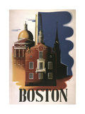 Boston Architecture Giclée-Druck