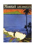 Hawaii from La - Giclee Baskı