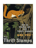 He is Piling Up His Thrift Stamps - Are You Giclee Print