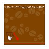 Coffee Beans, Measuring Spoon, Cream Giclee Print