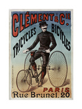 Clement Tricycles Wydruk giclee