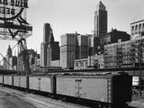 Chicago Skyline from Water Street Fotografie-Druck
