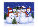Five Snowmen Giclee Print by William Vanderdasson