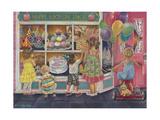 Cumpleaños feliz Lámina giclée por Tricia Reilly-Matthews