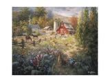 Grazing the Fertile Farmland Impression giclée par Nicky Boehme