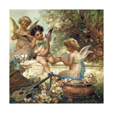 Cherubim in the Forest Giclee Print