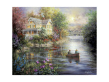 Evening Reflections Giclee Print by Nicky Boehme