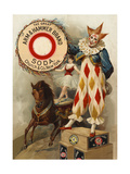 Clown, Horse, Acrobat and Arm and Hammer Brand Soda Giclee Print
