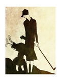 Flapper Golfer Lady Giclee Print