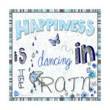 Happiness Is Dancing in the Rain Giclee Print by Megan Aroon Duncanson