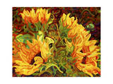 Four Sunflowers Giclee Print by Mandy Budan