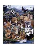 Les amis de la forêt Reproduction procédé giclée par Jenny Newland