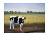 Happy Holstein Giclee Print by James W. Johnson
