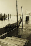 Gondola and San Marco Antique Photographic Print by Moises Levy