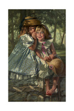 Giggles and Whispers Giclee Print by Bob Byerley