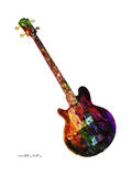 Guitar 10 Giclee Print by Mark Ashkenazi