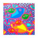 Funky Fish Giclee Print by John Nolan