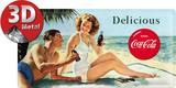 Coca-Cola Tin Sign - Beach Couple Tin Sign