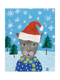 Holiday Cat Giclee Print by Nathaniel Mather