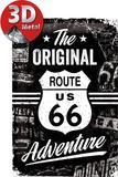 Route 66 The Original Adventure Plaque en métal