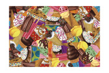 Ice Cream Collage Giclee Print by Fiona Stokes-Gilbert