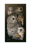 Eyes of the Night - Owls Giclee Print by Wilhelm Goebel