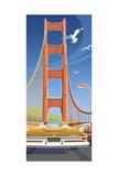 Golden Gate Giclee Print by Larry Hunter