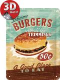 Burgers Targa in metallo