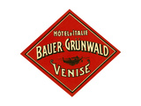 Hotel d'Italie, Bauer- Grunwald, Venise Giclee Print