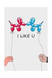 I Like U 2 Giclee Print by Mark Ashkenazi