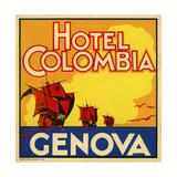Hotel Colombia, Genova Giclee Print
